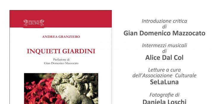 """Presentazione libro """"Inquieti giardini"""" di Andrea Granziero"""
